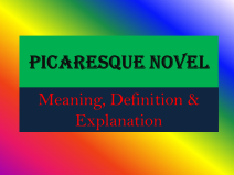 Picaresque Novel: Meaning, Definition and Explanation