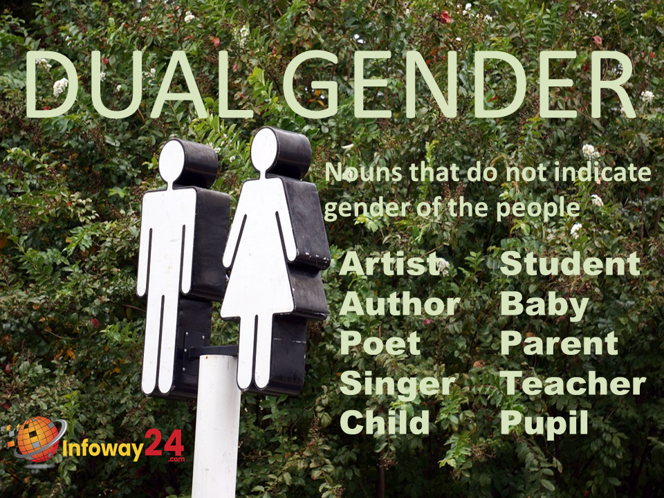 Dual Gender: Nouns that do not indicate gender of people